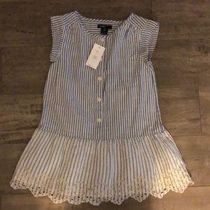 Baby gap girls striped dress